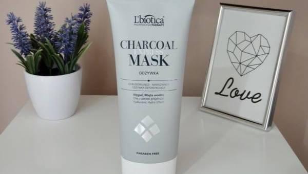 L'biotica, Charcoal Express Mask, Odbudowująco- Nawilżająca Odżywka Detoksykująca