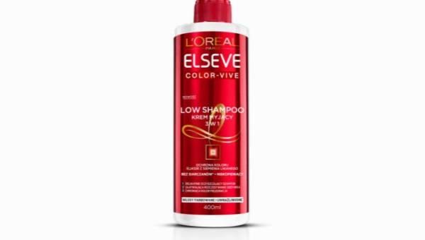 L'Oreal Paris, Elseve, Color – Vive, Low Shampoo, Krem myjący 3 w 1 do włosów farbowanych i uwrażliwionych