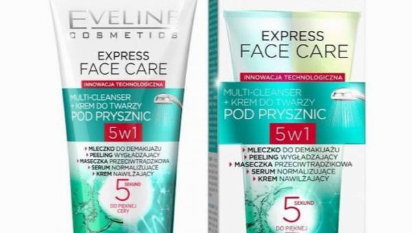 Eveline, krem do twarzy pod prysznic Express Face Care Multi-Cleanser 5w1
