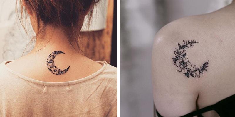 Księżyc Z Kwiatów Tatuażowy Wzór Idealny Na Maj Kobietamagpl
