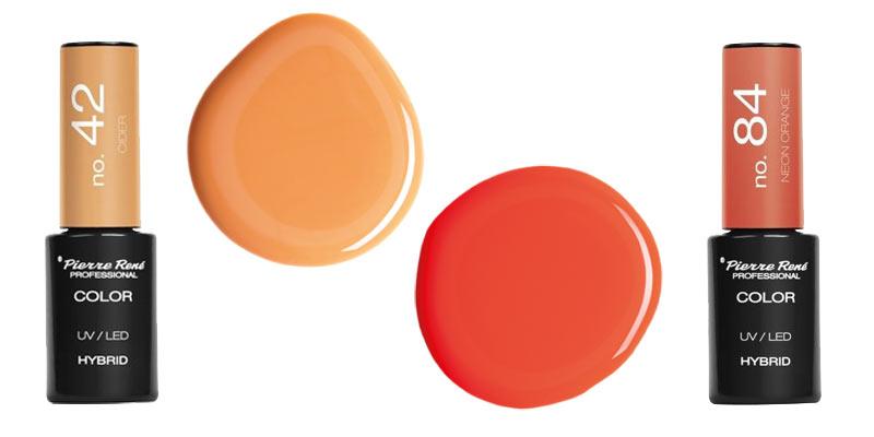 Neonowe paznokcie pomarańczowe lakiery hybrydowe