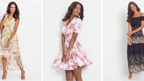 Zwiewne sukienki w kwiaty od bonprix – wiosnenny must have