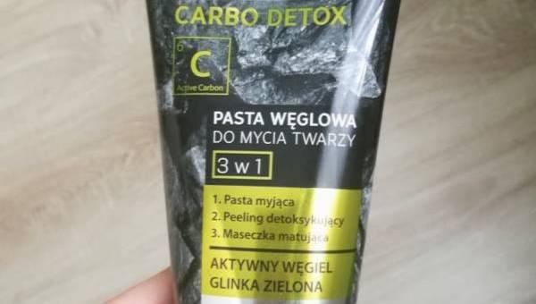 Bielenda, Carbo Detox, Pasta węglowa do mycia twarzy 3 w 1