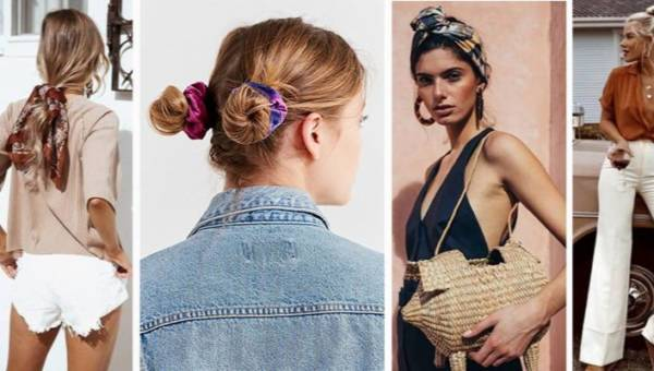Modne ozdoby do włosów 2018, czyli opaski, chusty i frotki
