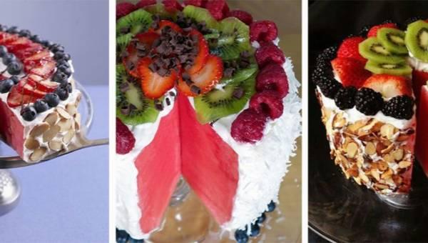 Tort z arbuza. Słodki hit na lato!