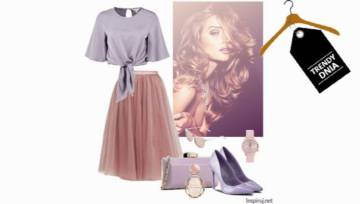Elegancki look w kolorze lila