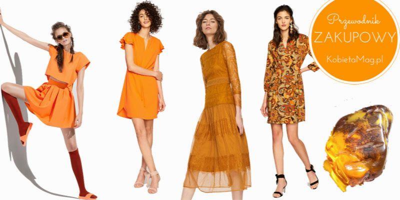 ubrania w kolorze bursztynu