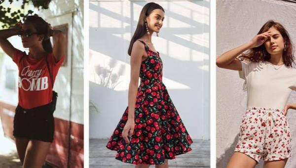 Ubrania z wisienkami. Zobacz, jak nosić słodki trend tego lata!