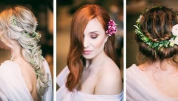 Fryzury z kwiatami – dziewczęce i naturalne upięcia na lato