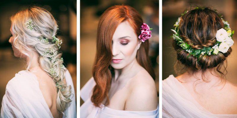 fryzury z kwiatami