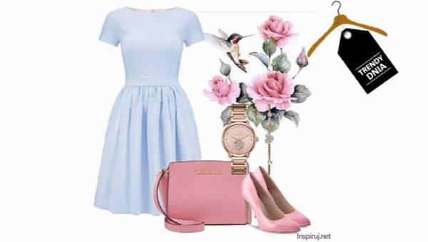 Róż i błękit. Elegancka stylizacja z nutką dziewczęcości