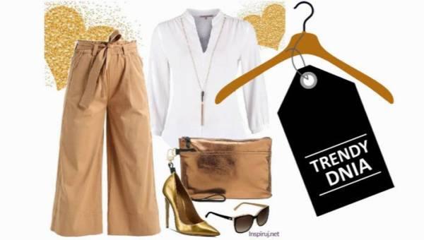 Wtorkowa stylizacja w bieli i złocie