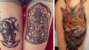 Tatuaż na udzie – zmysłowa i kobieca ozdoba ciała