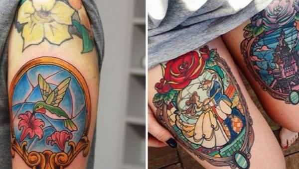 Tatuaż witraż czyli wyższy poziom sztuki wytatuowanej na ciele