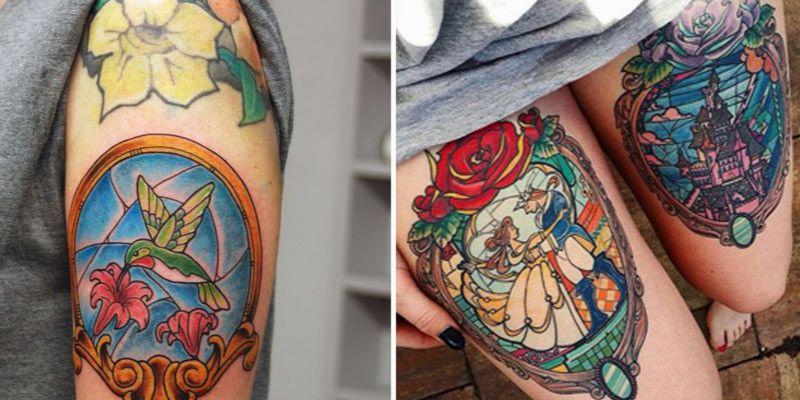 Tatuaż witraż