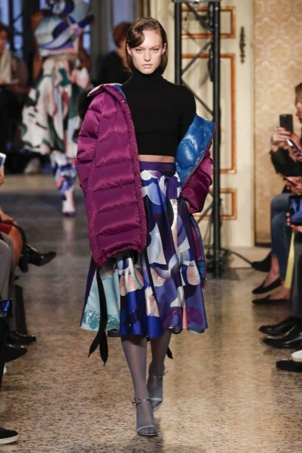 fioletowa kurtka pikowana Emilio Pucci,