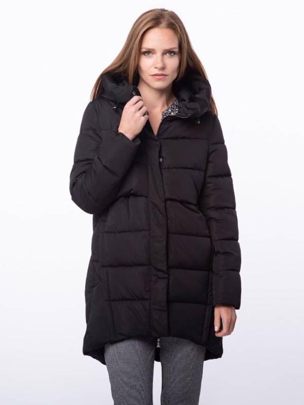 czarna kurtka pikowana jesień zima 2018/2019 model Volcano