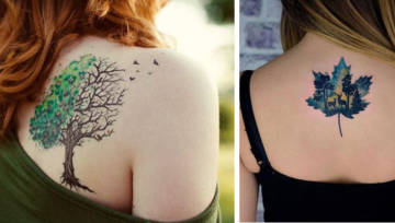 Jesienne tatuaże. Inspirujące wzory nie tylko na zimne miesiące!