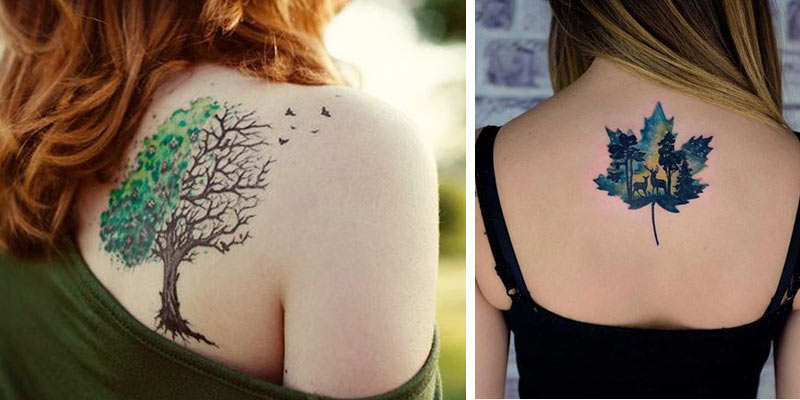 jesienne tatuaże