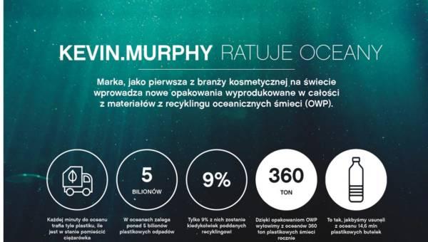 KEVIN.MURPHY pierwszą marką kosmetyczną na świecie, która tworzy swoje opakowania w całości z plastiku odzyskanego z oceanu