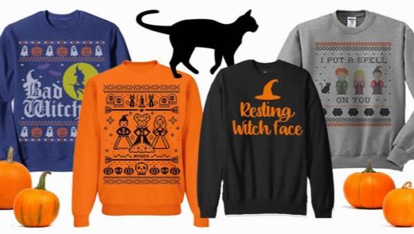 Zabawne bluzy i swetry na Halloween. Nowy trend dla miłośniczek 'ugly sweaters'!