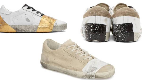 Buty oklejone taśmą w cenie średniej krajowej. Czy to moda, czy jawna kpina z biedy?