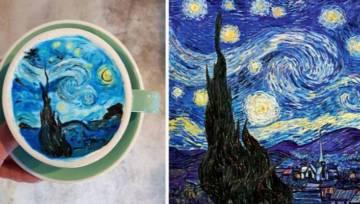 Van Gogh na kawie? Jest na świecie barista, który namalował obraz mistrza na latte!