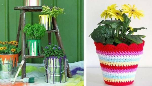 Oryginalne doniczki ubarwią każde wnętrze. Zobacz czym zastąpić klasyczne pojemniki na kwiaty