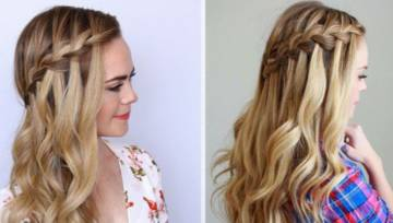 Warkocz wodospad – nowy fryzjerski trend na jesień