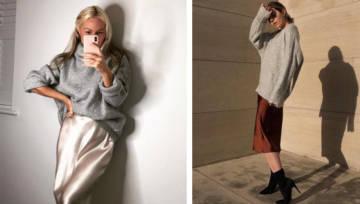 Jedwabna spódnica powraca w wielkim stylu! Zobacz, jak nosić ją w jesiennych stylizacjach