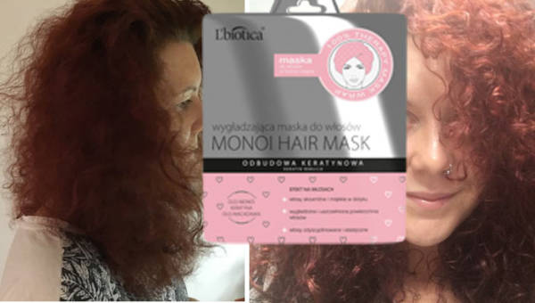 Maska L'biotica na włosy – przetestowałyśmy ją dla was. Czepek z olejem monoi naprawdę wygładza i pięknie pachnie!