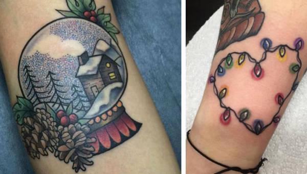 Świąteczne tatuaże – zobacz, jakie malunki na ciele noszą prawdziwi maniacy Świąt!