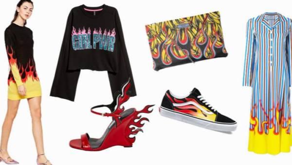 Ubrania z płomieniami – powrót ekscentrycznego trendu rodem z szaf komiksowych bohaterów!