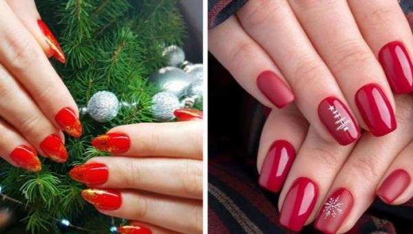 Czerwone paznokcie ze świąteczno-sylwestrowymi akcentami. Czas na wyjątkowy manicure!
