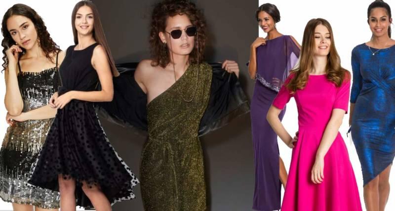 modne sukienki na sylwester 2018