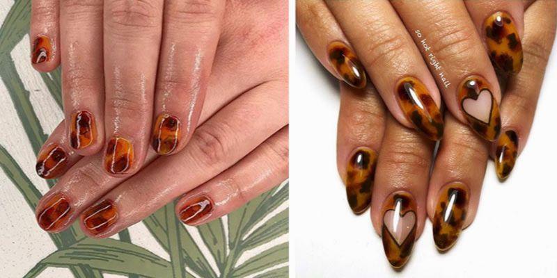 szylkretowe paznokcie