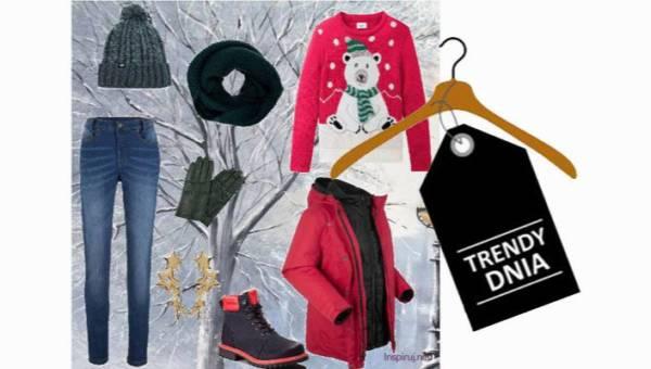 Świąteczny sweter w stylizacji pełnej humoru, ciepła i mikołajkowego klimatu