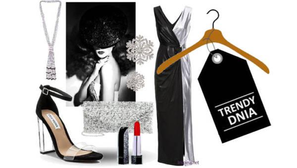Srebrno-czarne suknie na studniówkę. Elegancka klasyka na jedną z najważniejszych nocy w życiu