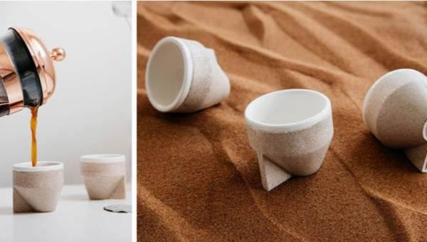 Kubek z piasku – dubajska alternatywa dla plastikowych naczyń!
