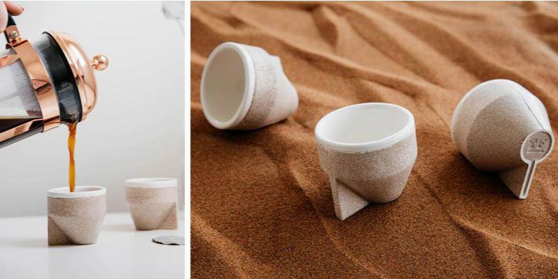 kubek z piasku