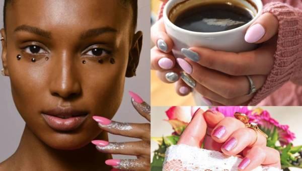 Różowe paznokcie – w odcieniach i w połączeniu z innymi kolorami. 50+TOP  inspiracji