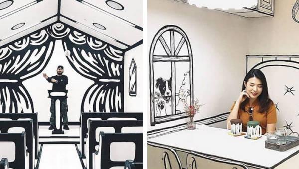 Wnętrza jak z komiksu. Możesz wziąć ślub lub wypić kawę niczym twój bohater z kreskówki