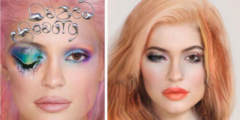 makijaż zrobiony przez sztuczną inteligencję