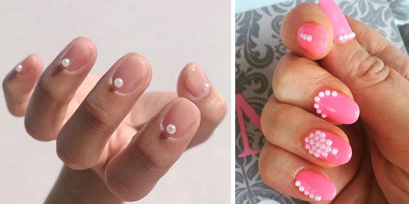 paznokcie z perłami