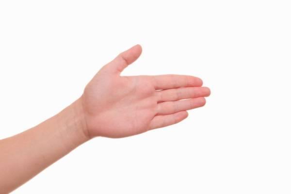 Dieta zasada dłoni - otwarta dłoń