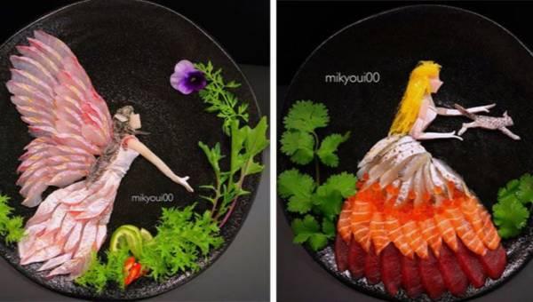 Instagramowy artysta sashimi serwuje dzieła sztuki na talerzu. Zobacz dania, które żal byłoby zjeść!