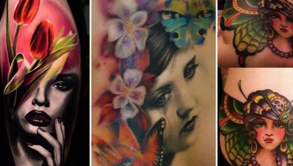 Tatuaże z twarzami kobiet – ciało jako płótno dla obrazów i portretów oraz jak kartka z komiksu