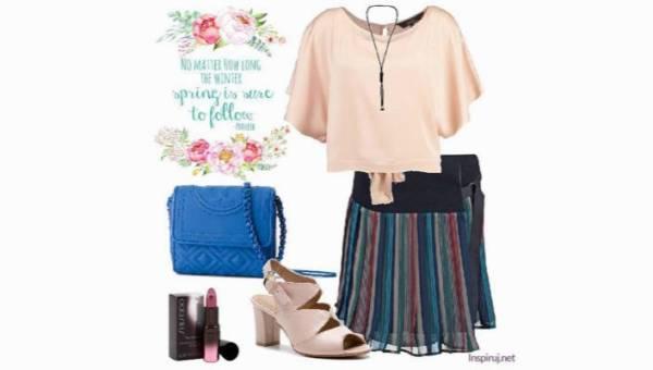 Spring stripes – wiosenne paski w pudrowej stylizacji