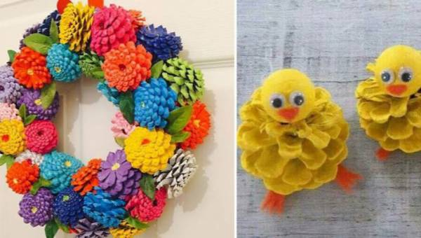DIY: Ozdoby wielkanocne z szyszki, które pokolorują świątecznie Twoje wnętrza. TOP 5 inspiracji!