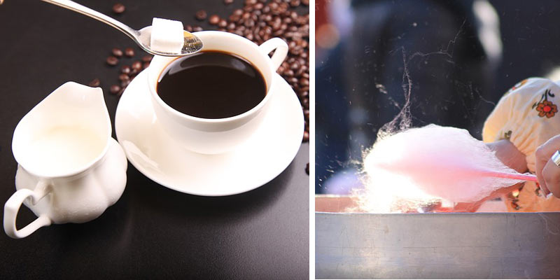 kawa z watą cukrową